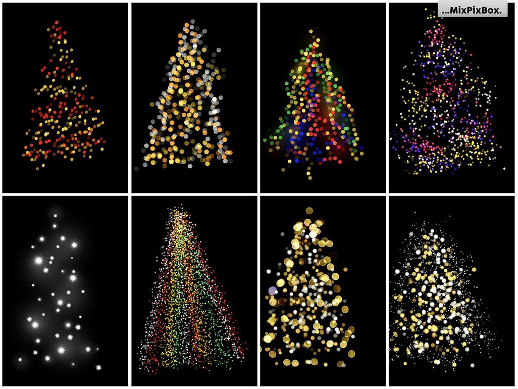 Christmas Tree Lights.Christmas Trees Lights Overlays