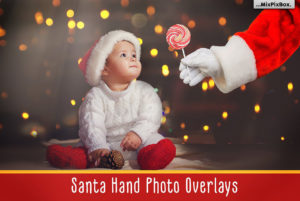 Santa Hand - PNG Photo Overlays