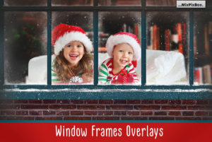 Frosty Window Frames Photo Overlays