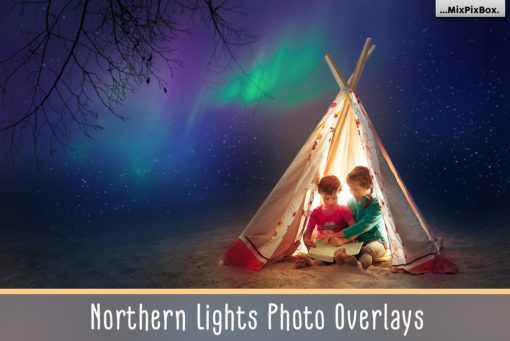 Northern Lights Photo Overlays by MixPixBox