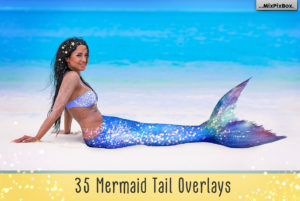 Mermaid Tail Photo Overlays