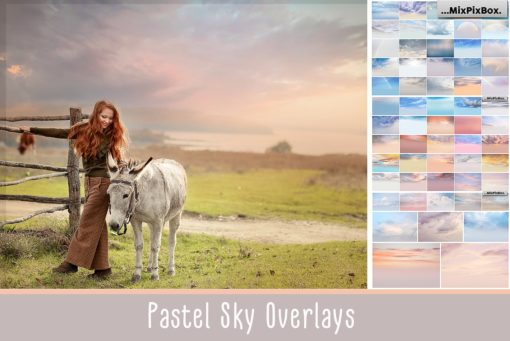 Pastel Sky Photo Overlays