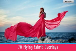 Flying Fabric Photo Overlays