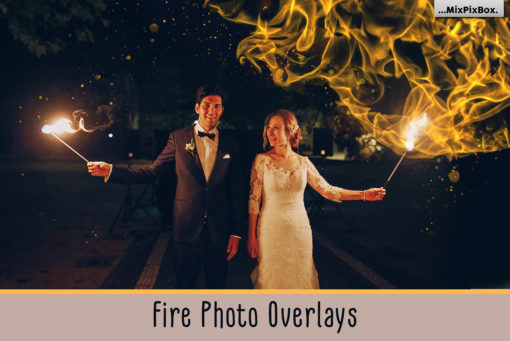 Fire & Isolated Flames Photo Overlays
