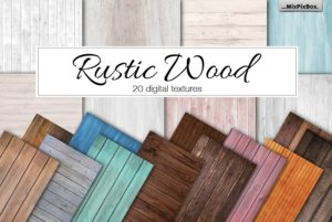 Rustic Wood Digital Papers