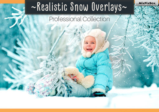 Realistic Snow Photo Overlays