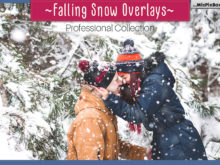 Falling Snow Photo Overlays