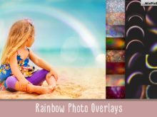 Rainbow Photo Overlays and Textures Bundle