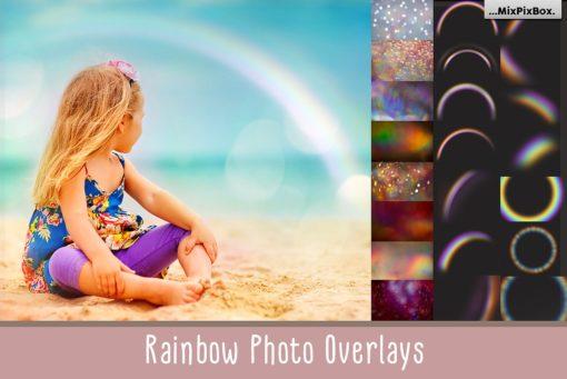 Rainbow Photo Overlays and Textures Bundle