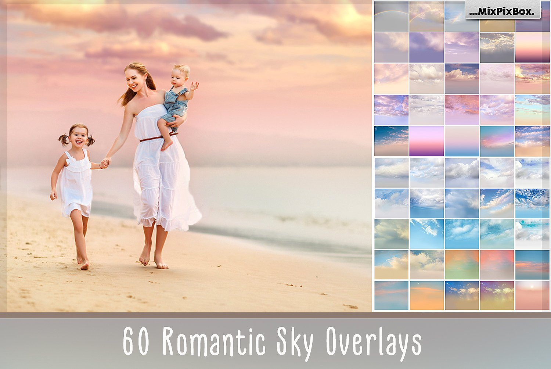 60 Romantic Sky Photo Overlays by MixPixBox