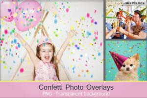 Confetti Overlays + Photoshop Brushes