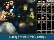 Wedding Art Bokeh Photo Overlays