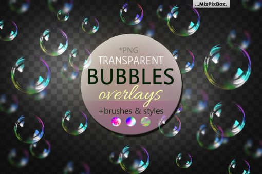 Transparent Bubble Overlays + Brushes