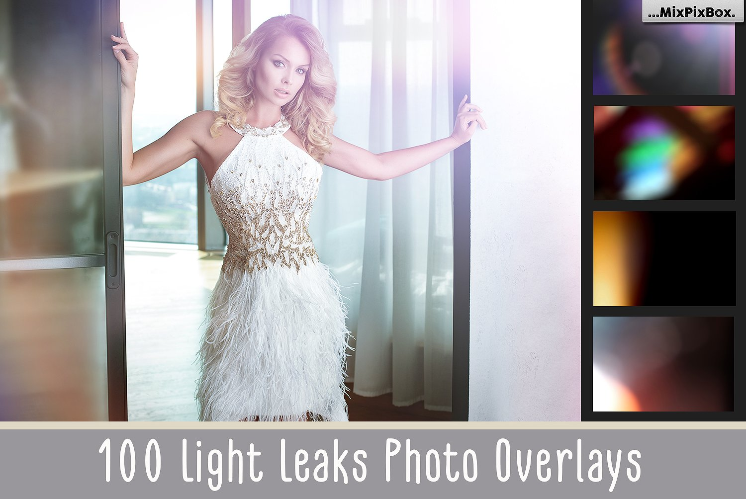 100 Light Leaks Photo Overlays