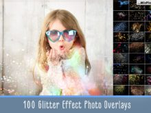 Glitter Effect Photo Overlays Pack