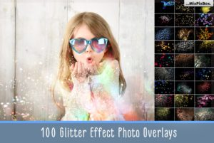 Glitter Effect Photo Overlays Pack