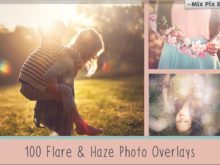 100 Sun Flare and Haze Overlays Bundle