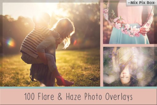 100 Sun Flare and Haze Overlays Bundle