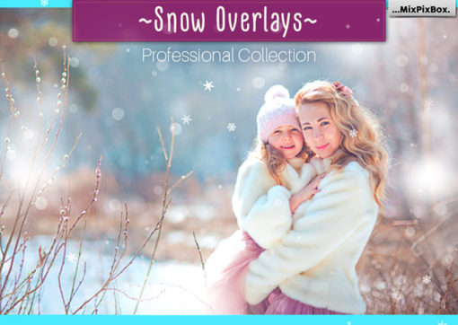Natural Snow Photo Overlays