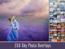 250 Sky Photo Overlays Mega Bundle