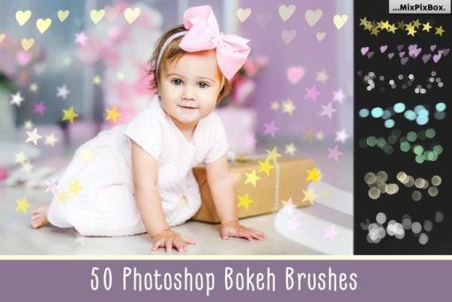50 Bokeh Photoshop Brushes