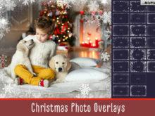 20 Christmas Photo Overlays & Frames