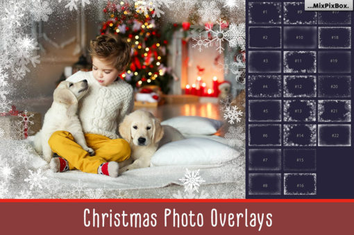 20 Christmas Photo Overlays & Frames