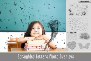 Scrambled Letters Photo Overlays