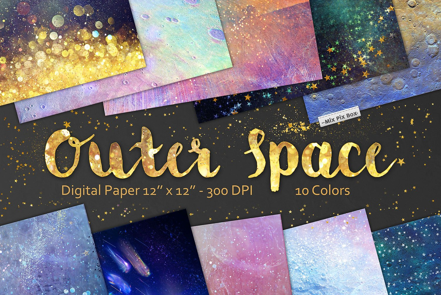 Space Themed Digital Papers by MixPixBox - FilterGrade