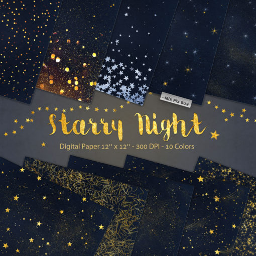 Starry Night Digital Papers - FilterGrade