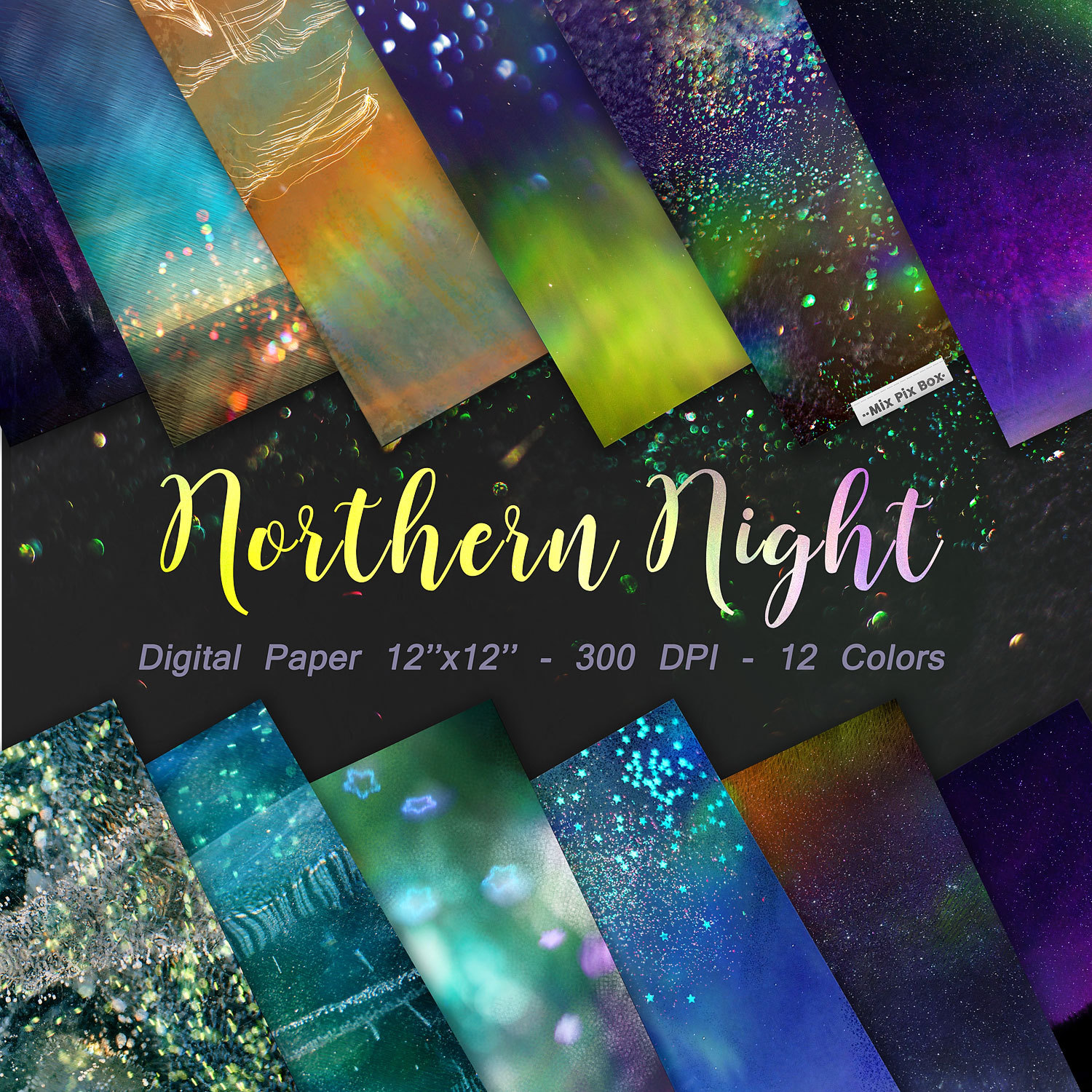 Northern Night Digital Papers