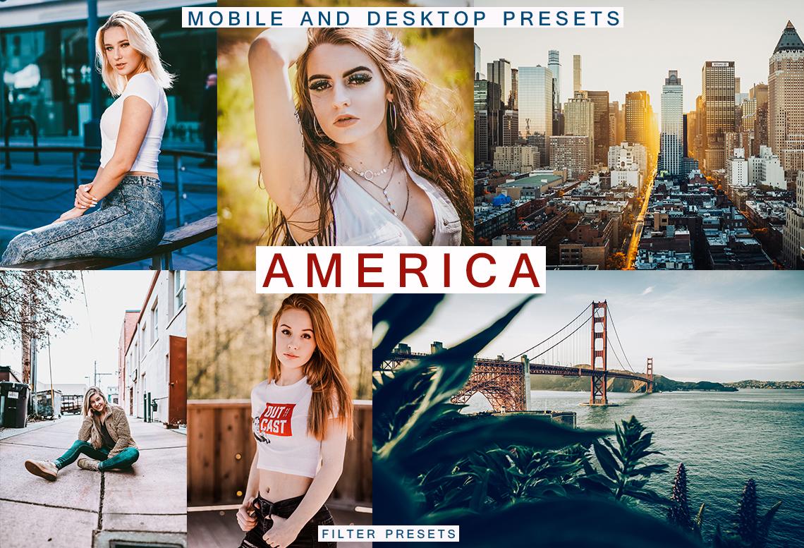 AMERICA 6 Lightroom Mobile + Desktop Presets