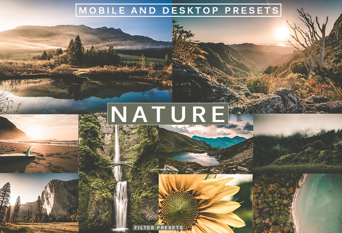 5 Cinematic NATURE Lightroom Presets (Mobile & Desktop)
