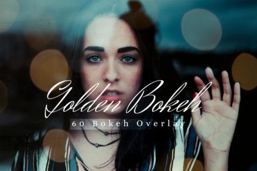 60 Golden Bokeh Lights Photo Overlays