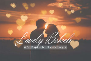 60 Lovely Bokeh Lights Effect Photo Overlays