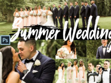 Summer Wedding Theme PS Actions and LUTs Bundle