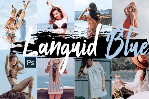 Languid Blue Theme PS Actions and LUTs Bundle