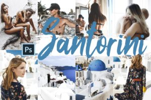 Santorini Theme PS Actions and LUTs Bundle