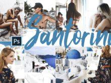 Santorini Theme PS Actions and LUTs Bundle