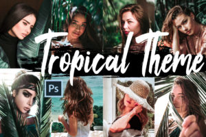 Tropical Theme PS Actions and LUTs Bundle