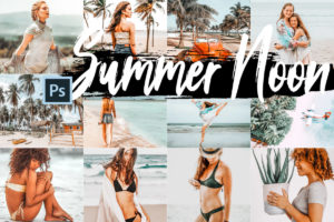 Summer Noon Theme PS Actions & ACR And LUTs Bundle