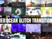 20 Ocean Glitch Premiere Pro Transitions