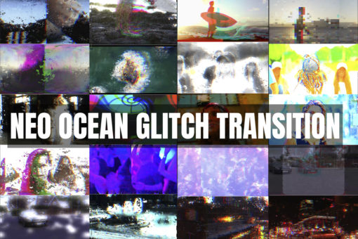 20 Ocean Glitch Premiere Pro Transitions