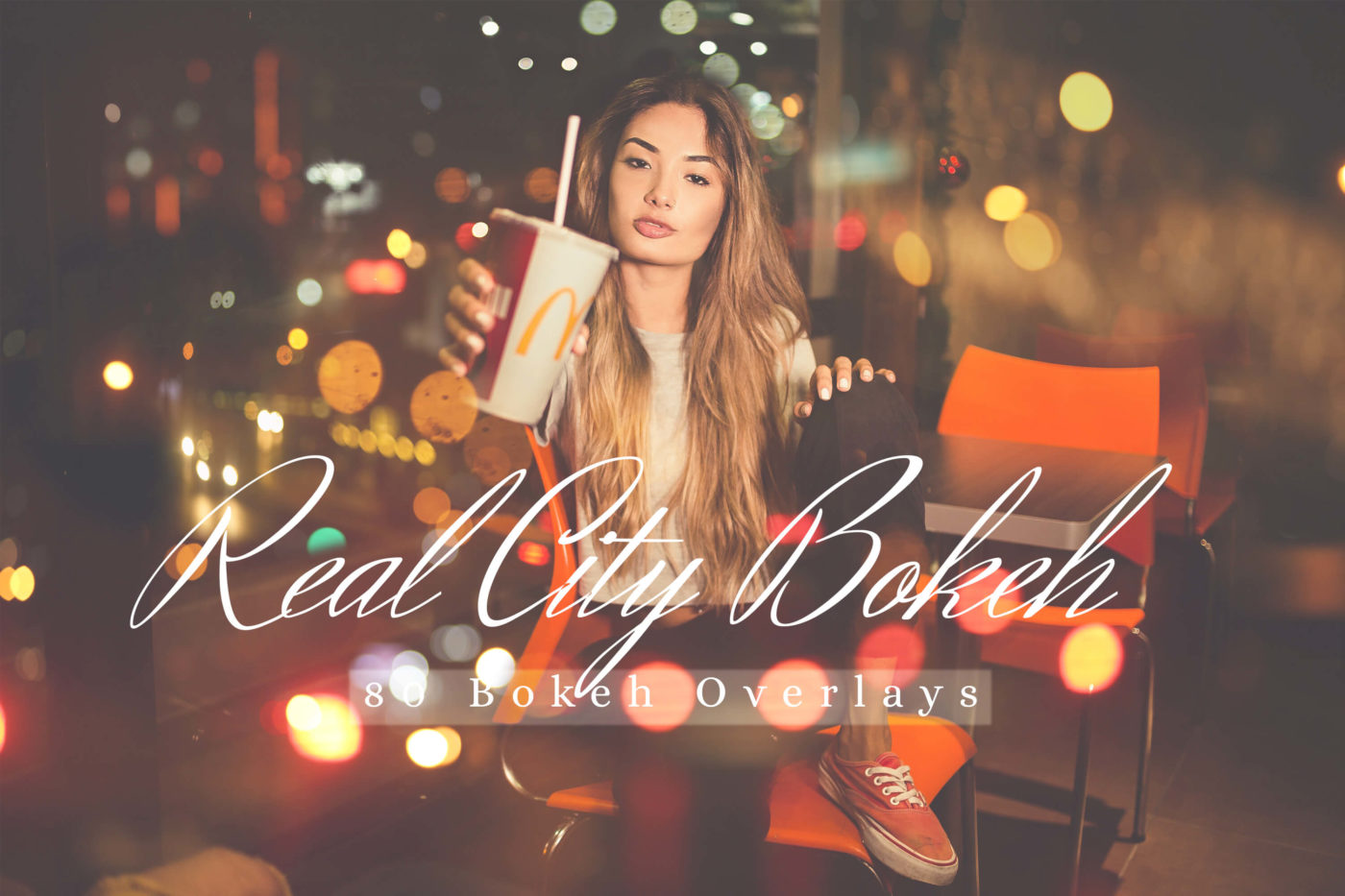 80 Real City Bokeh Lights Photo Overlays