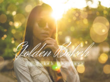 60 Golden Bokeh Lights Photo Overlays Pack 02