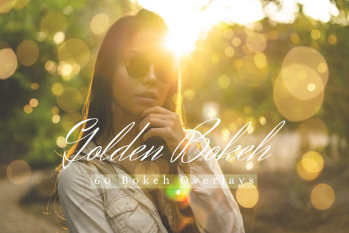 60 Golden Bokeh Lights Photo Overlays Pack 02
