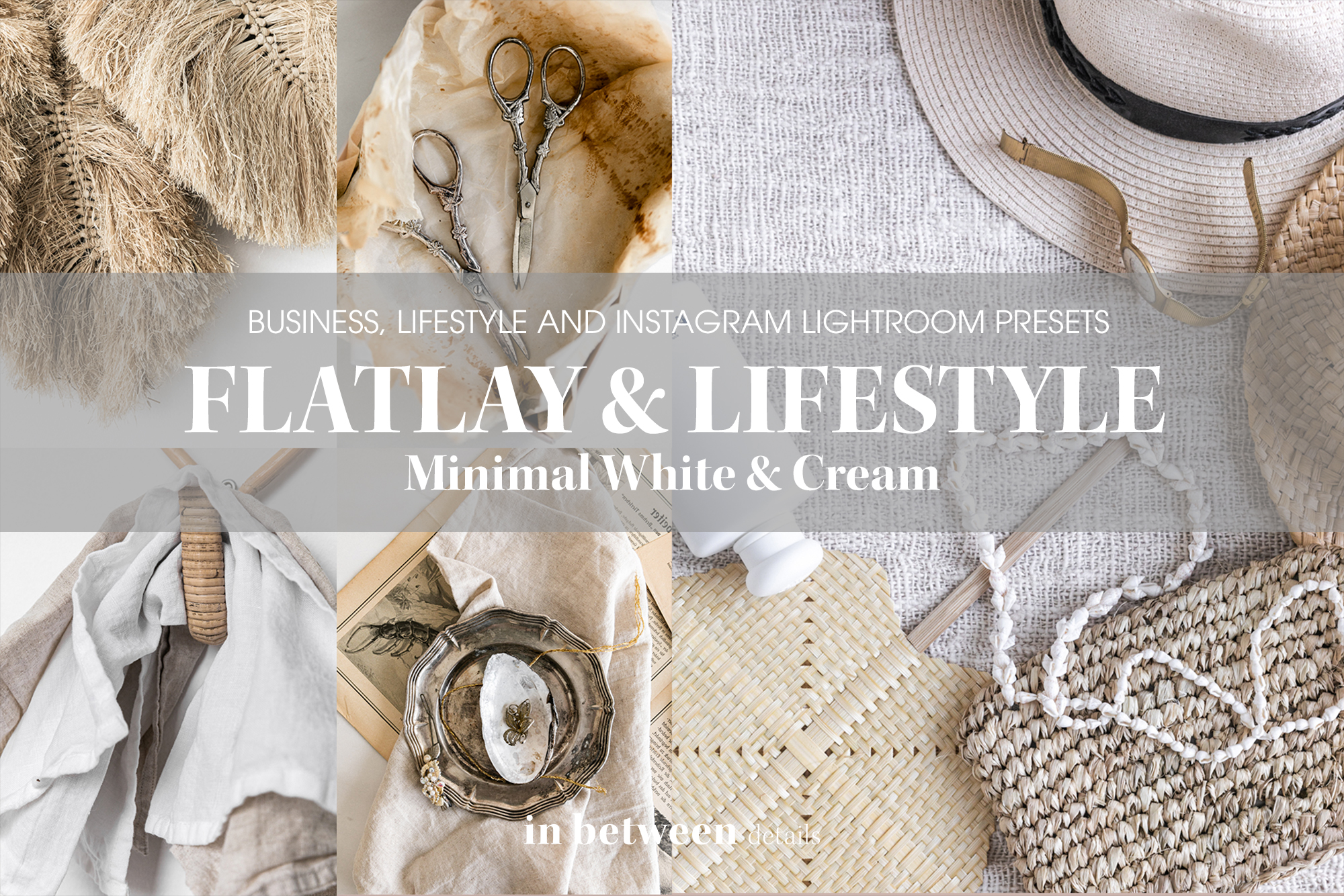 Minimal White Flat Lay and Lifestyle Lightroom Presets by black.white.vivid.