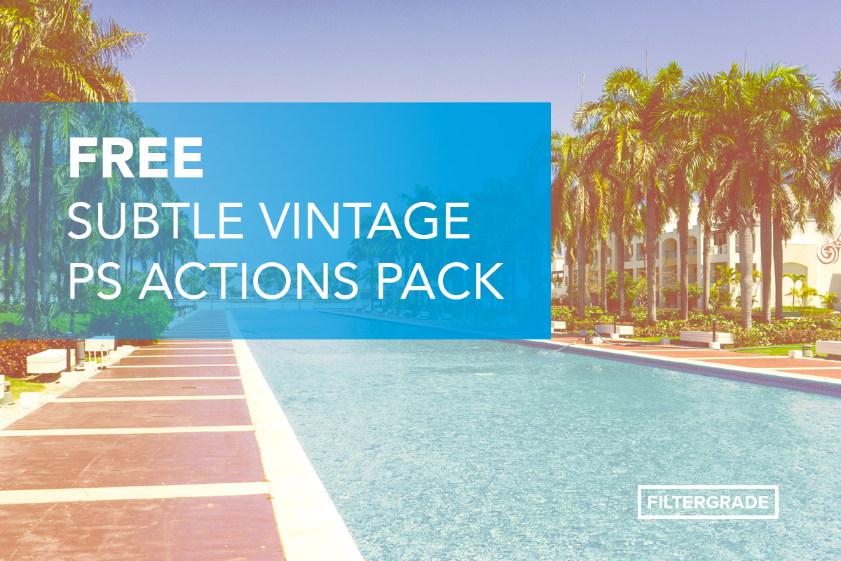 Free Subtle Vintage Photoshop Actions Pack