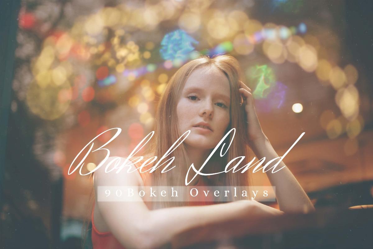 90 Bokeh Land Light Effect Photo Overlays