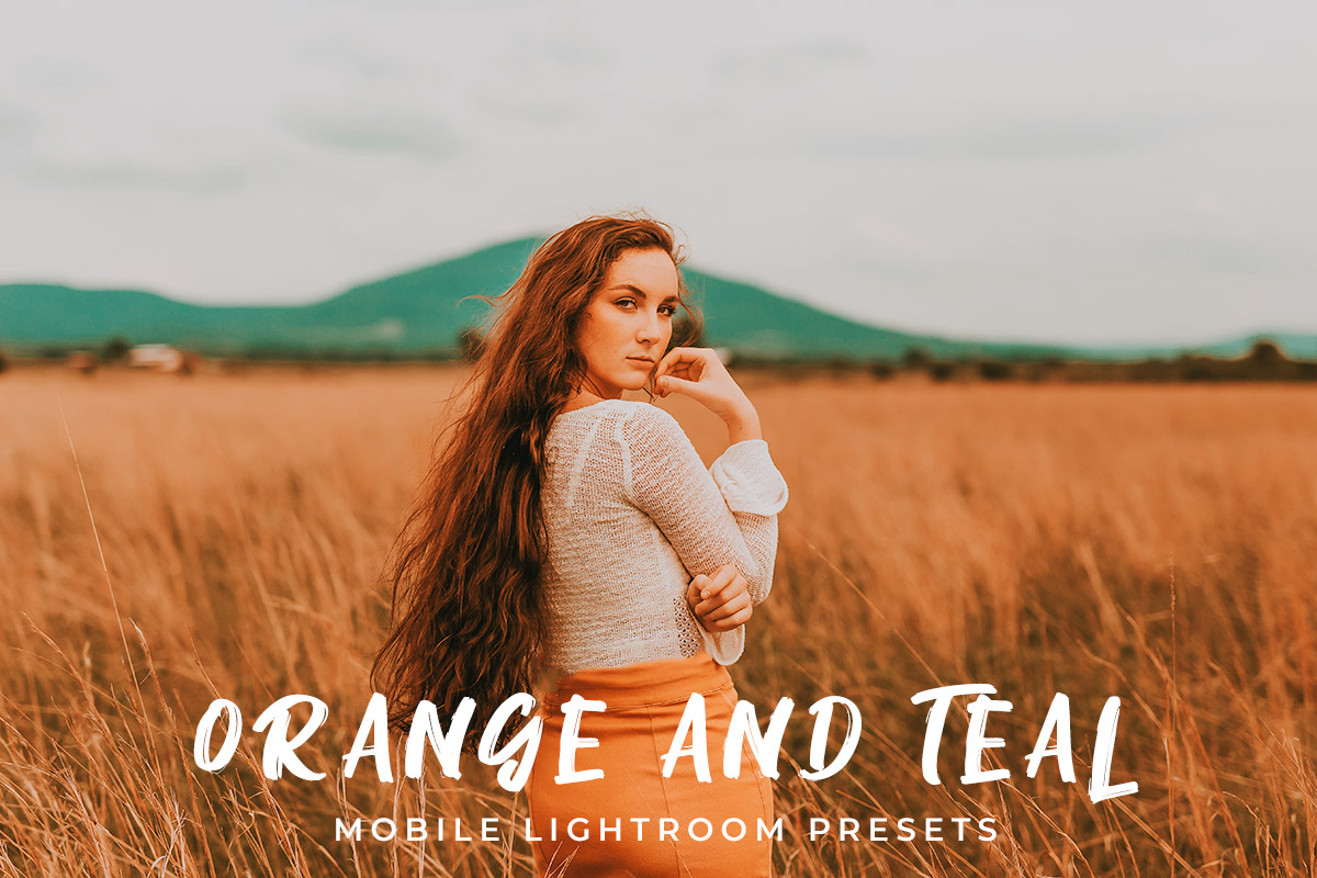 free orange and teal mobile presets